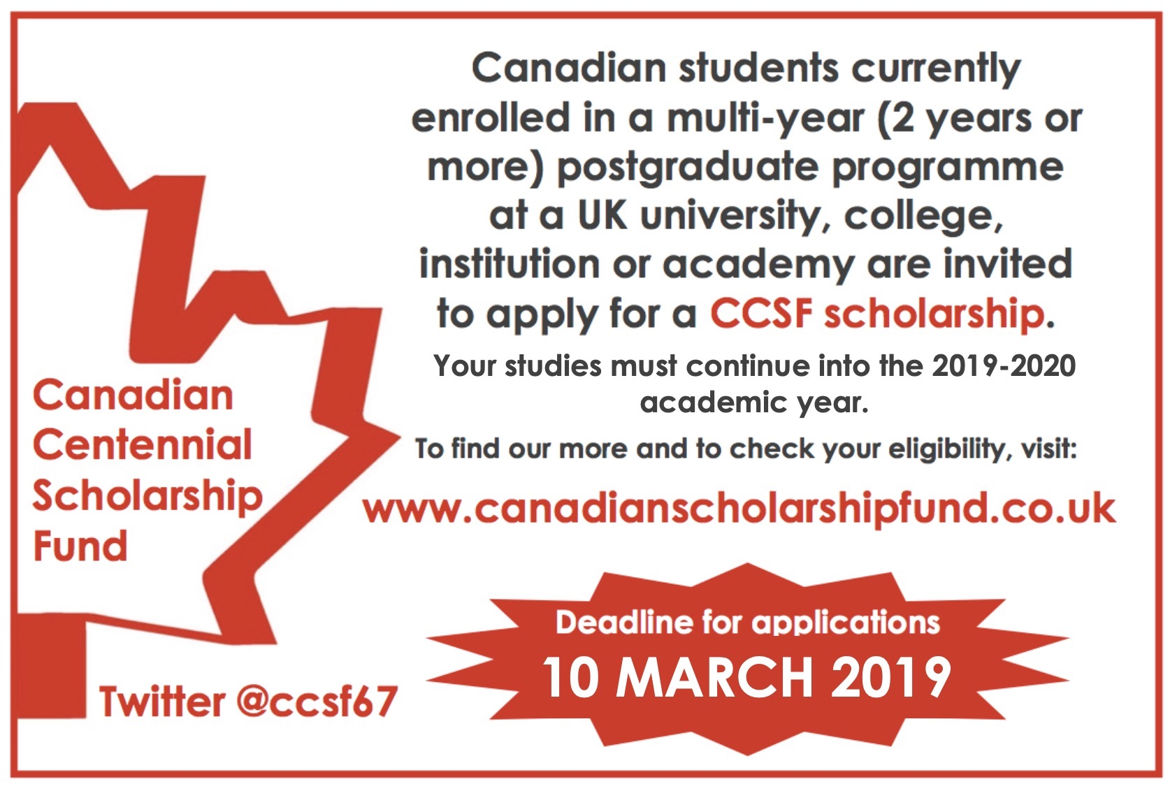Apply Now for 2019-2020 Scholarships! | Canadian Centennial